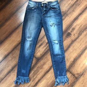 Kancan frayed jeans